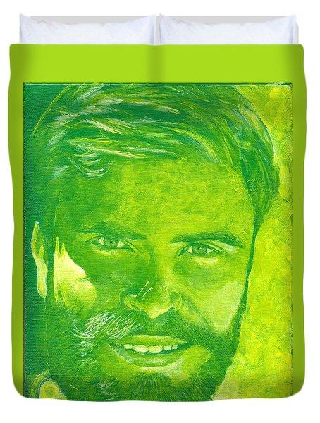 Portrait In Green Duvet Cover