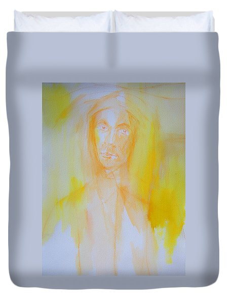 Portrait In Yellow Duvet Cover