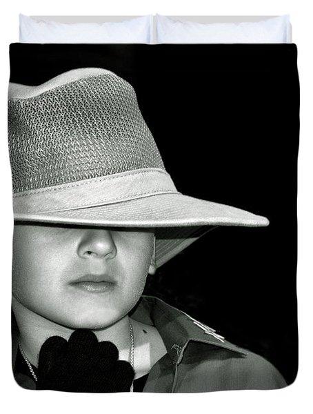 Portrait Of A Boy With A Hat Duvet Cover