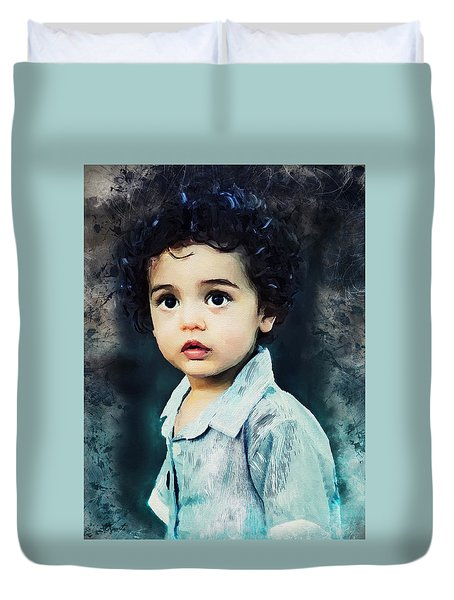 Portrait Of A Child Duvet Cover
