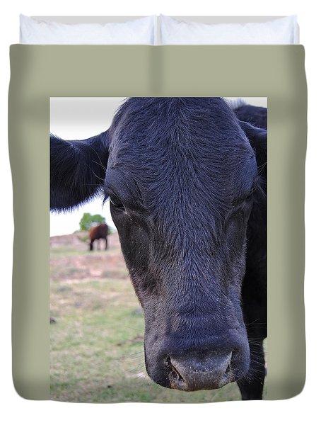 Portrait Of A Cow Duvet Cover