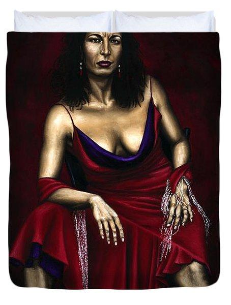 Portrait Of A Dancer Duvet Cover