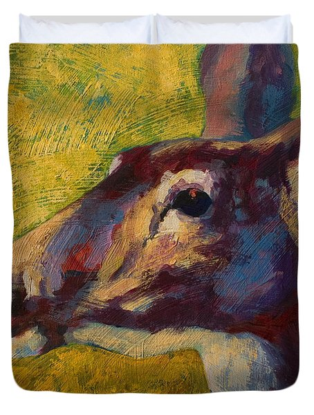 Portrait Of A Doe Duvet Cover