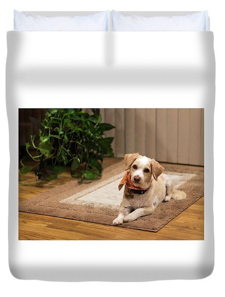 Portrait Of A Dog Duvet Cover