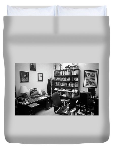 Portrait Of A Film/tv Professor's Office Duvet Cover