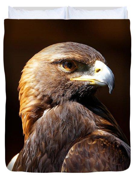 Portrait Of A Golden Eagle Duvet Cover