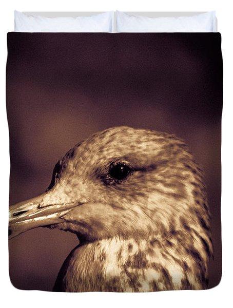 Portrait Of A Gull Duvet Cover