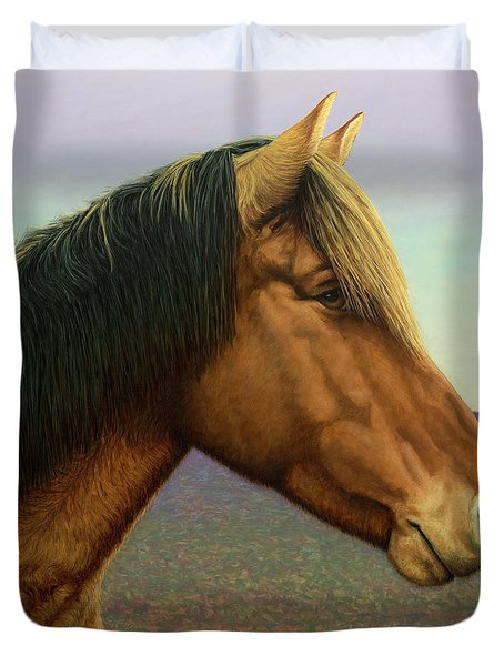 Portrait Of A Horse Duvet Cover