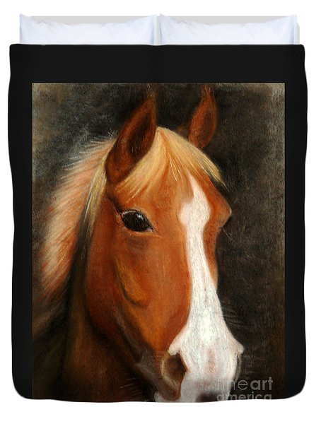 Portrait Of A Horse Duvet Cover