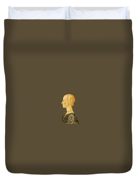 Duvet Cover featuring the digital art Portrait Of A Lady by Asok Mukhopadhyay