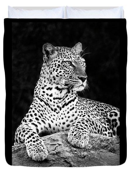Portrait Of A Leopard Duvet Cover by Richard Garvey-Williams