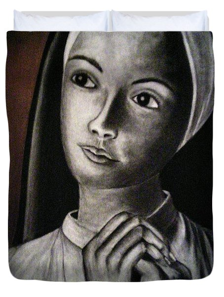 Portrait Of A Nun Duvet Cover