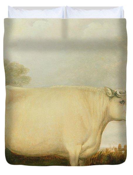 Portrait Of A Prize Cow Duvet Cover