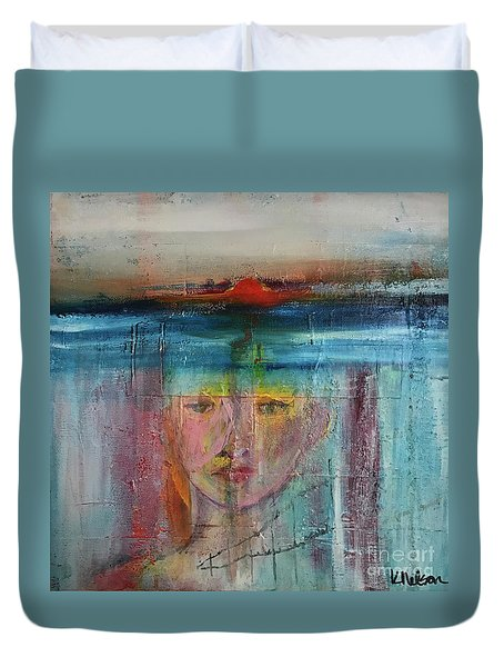 Portrait Of A Refugee Duvet Cover by Kim Nelson