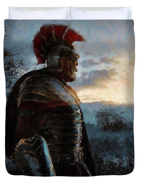 Portrait Of A Roman Legionary - 34 Duvet Cover