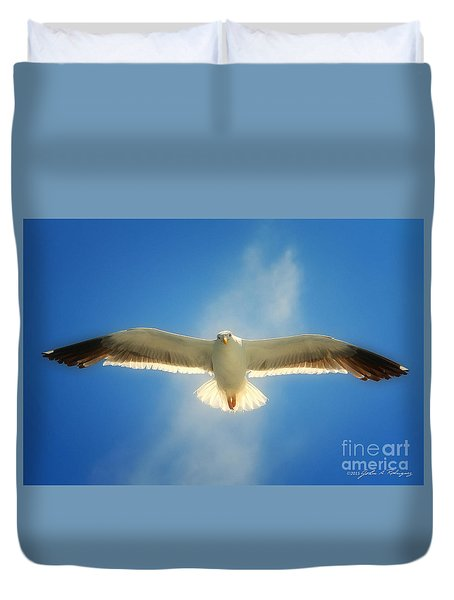 Portrait Of A Seagull Duvet Cover
