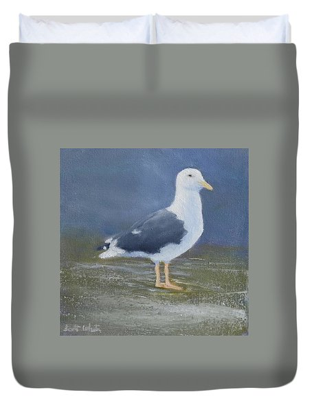 Portrait Of A Seagull Duvet Cover