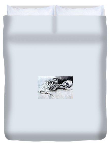Portrait Of A Skeleton Duvet Cover