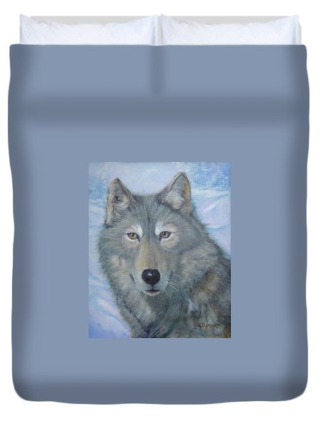 Portrait Of A Wolf Duvet Cover