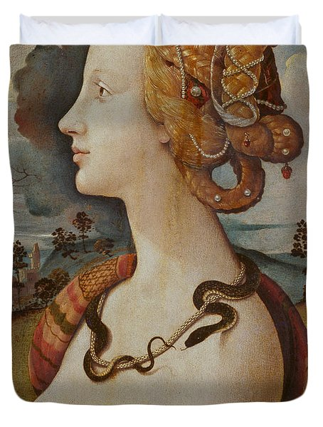 Portrait Of A Woman Called Simonetta Vespucci Duvet Cover