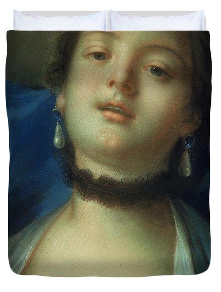 Portrait Of A Woman  Duvet Cover by Francois Boucher