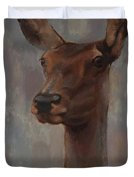 Portrait Of A Young Doe Duvet Cover