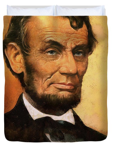 Portrait Of Abraham Lincoln Duvet Cover