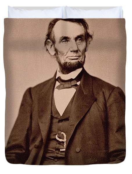 Portrait Of Abraham Lincoln Duvet Cover by Mathew Brady