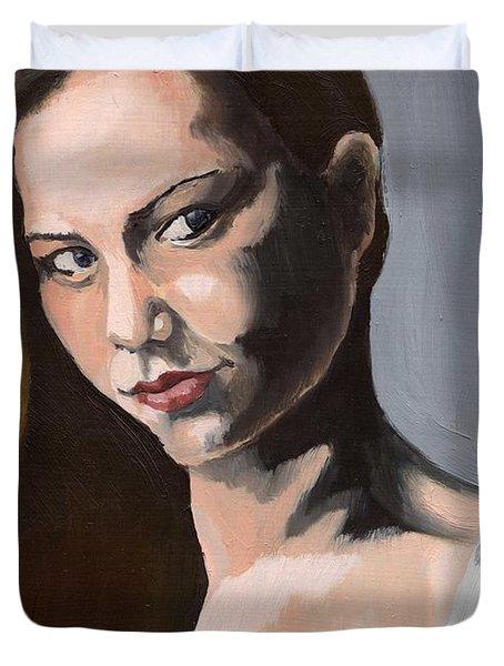 Portrait Of Amanda Duvet Cover
