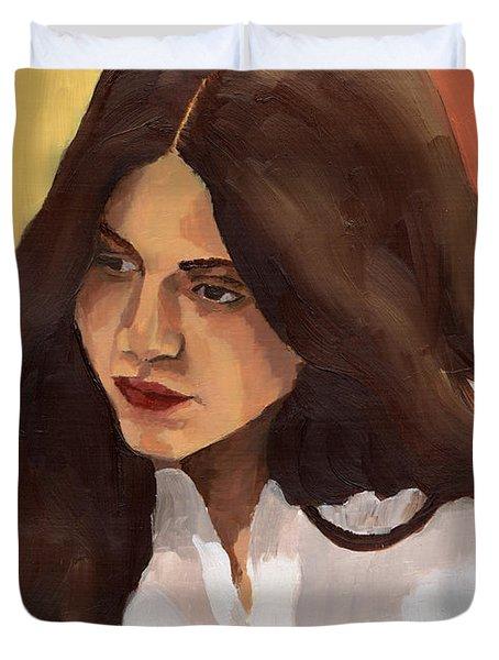 Portrait Of Amelia Duvet Cover