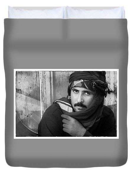 Portrait Of An Arab Man Duvet Cover