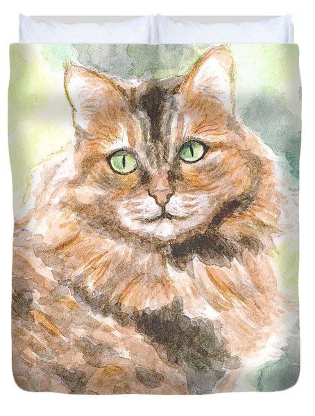 Portrait Of Cat. Duvet Cover