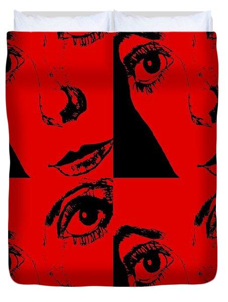 Portrait Of Catherine Pop Art Design Duvet Cover
