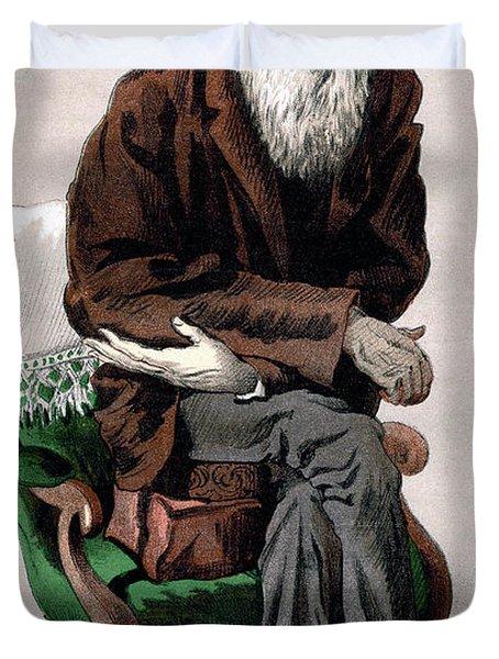 Portrait Of Charles Darwin Duvet Cover