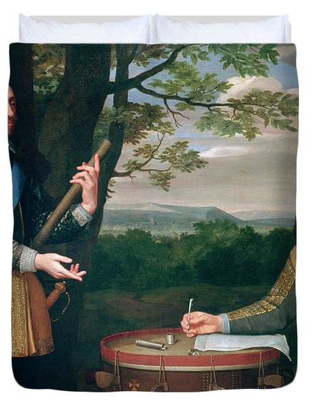 Portrait Of Charles I And Sir Edward Walker Duvet Cover