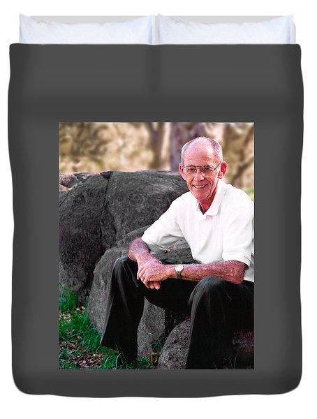 Portrait Of Dad Duvet Cover