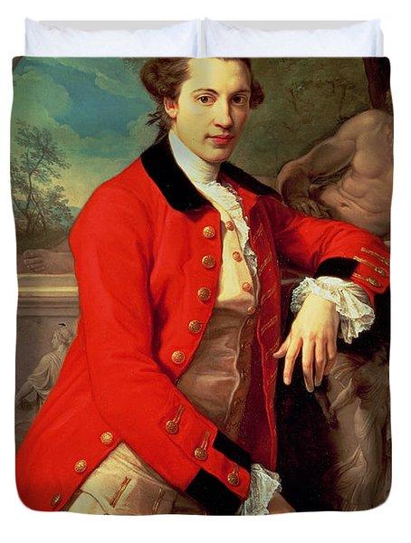 Portrait Of Edmund Rolfe Duvet Cover by Pompeo Girolamo Batoni