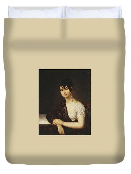 Portrait Of Elizabeth Ivanovna  Duvet Cover