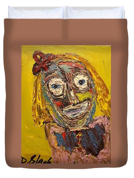 Portrait Of Finja Duvet Cover by Darrell Black