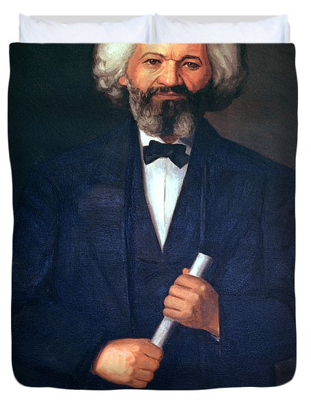 Portrait Of Frederick Douglass Duvet Cover by American School