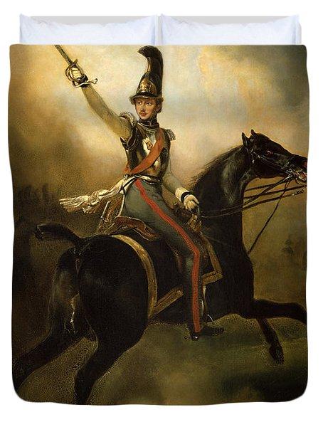 Portrait Of Friedrich Heinrich Duvet Cover by Emile Jean Horace Vernet