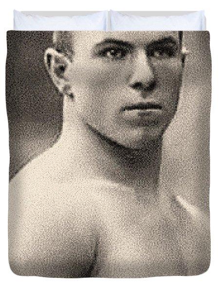 Portrait Of George Hackenschmidt Duvet Cover