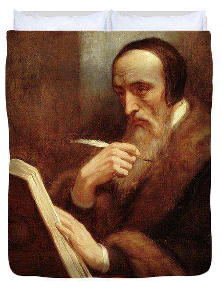 Portrait Of Jean Calvin Duvet Cover