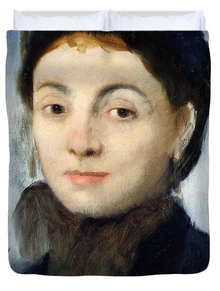 Portrait Of Josephine Gaujelin Duvet Cover by Edgar Degas