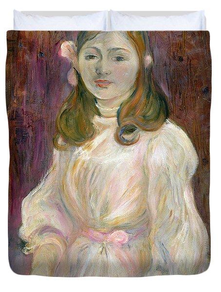 Portrait Of Julie Manet Duvet Cover by Berthe Morisot