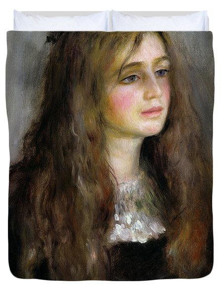 Portrait Of Julie Manet  Duvet Cover by Pierre Auguste Renoir