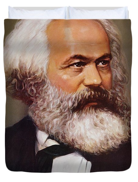Portrait Of Karl Marx Duvet Cover by Unknown