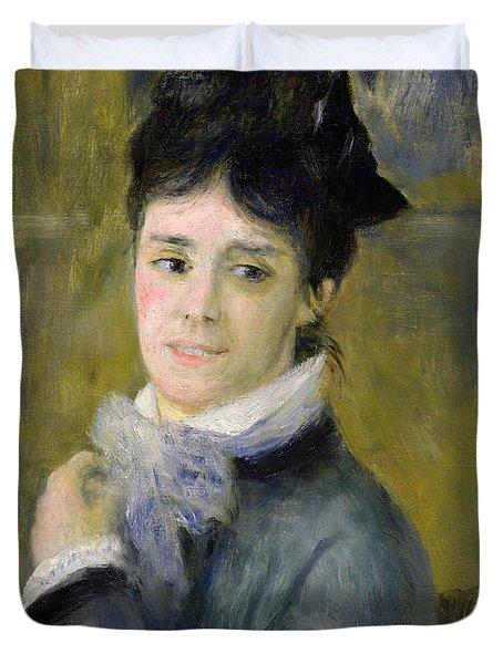 Portrait Of Madame Claude Monet Duvet Cover by Renoir