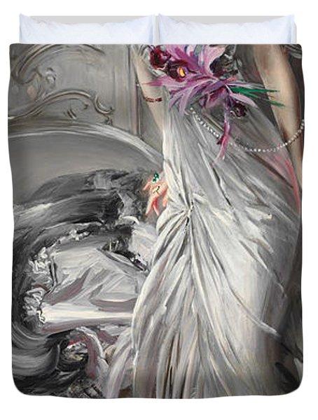 Portrait Of Madame Eugene Doyen Duvet Cover