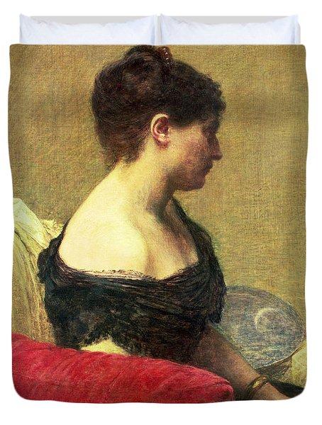 Portrait Of Madame Maitre Duvet Cover by Ignace Henri Jean Fantin Latour